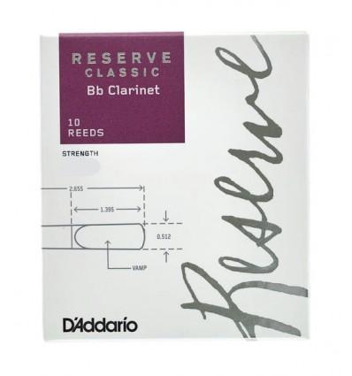 CAÑAS CLARINETE D´ADDARIO RESERVE CLASSIC 2,5