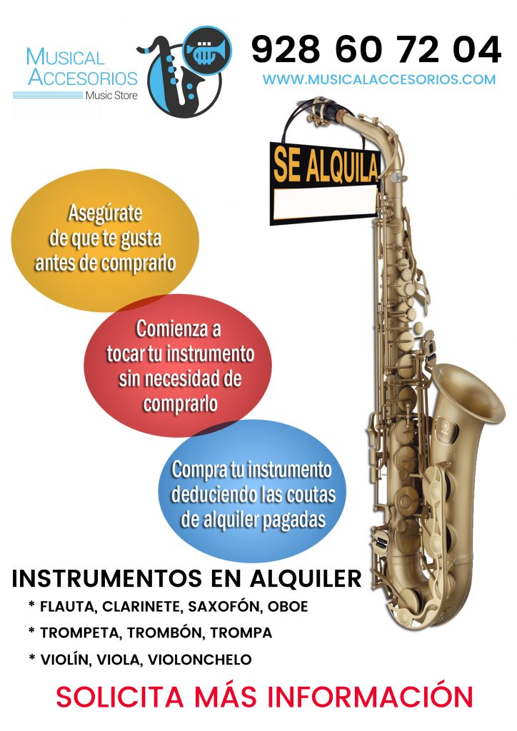 alquiler instrumentos musicales