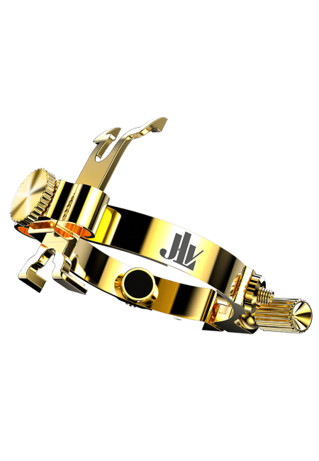 JLV SOUND - Abrazadera JLV Para Saxofon Alto (Chapado Oro)